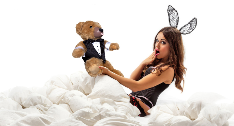 Pity, that Women having sex with a teddy bear